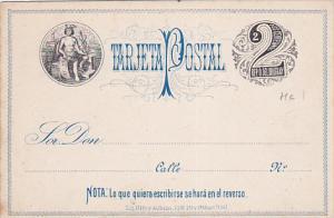 Uruguay 2c black 1880s UPU card