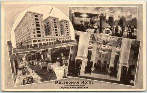 1930s Portland, Oregon Postcard MULTNOMAH HOTEL Your Western Home Multi-View