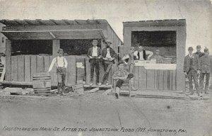 LPS77 Johnstown Pennsylvania 1889 Johnstown Flood Store on Main Street Postcard