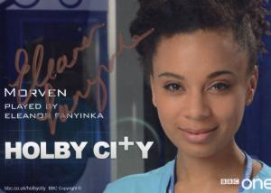 Eleanor Fanyinka as Morven BBC Holby City Hand Signed Cast Card Photo