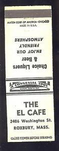 Roxbury, Massachusetts/MA Matchcover/Matchbook, The El Ca...