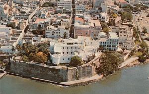Old San Juan Puerto Rico Aerial view City Walls Governor's Mansion