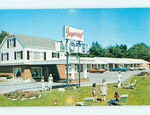 Unused Pre-1980 OLD CARS & IMPERIAL MOTEL Glens Falls New York NY u2530