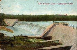Ohio Columbus The Storage Dam 1909
