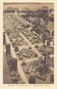 Virginia Williamsburg Palace Gardens Governors Palace Albertype