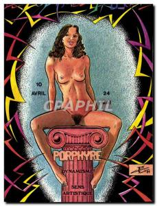 Postcard Modern Naked erotic Charles Berg Zodiac Etruscan Porphyry