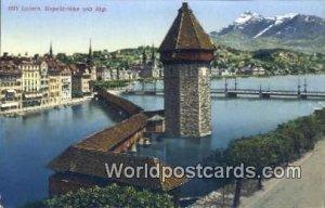 Kanellbrucke und Rigi Luzern Swizerland Unused
