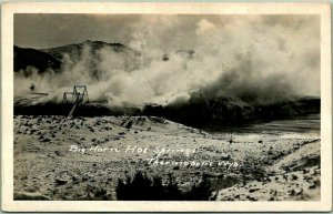 1920s THERMOPOLIS Wyoming RPPC Real Photo Postcard Big Horn Hot Springs UNUSED