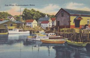 Maine Kennebunkport Fish Wharf