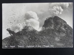 Italy NAPLES Napoli Vesuvio Esplosione di Lava, Mount Vesuvius Explosion 1933 RP