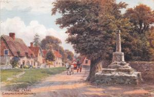 GARSINGTON nr OXFORD UK VILLAGE CROSS~A R QUINTON ARTIST POSTCARD