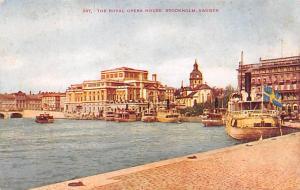 Sweden Old Vintage Antique Post Card Royal Opera House Stockholm Unused