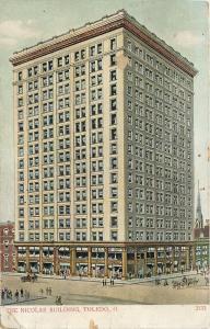 Toledo Ohio~The Nicolas Building~1910s Artist Postcard