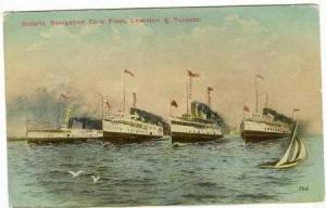 Ontario Navigation Co. Fleet, Lewiston & Toronto Canada, 00-10s