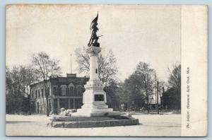 Postcard MI Battle Creek The Soldiers War Monument Pre 1908 View G27