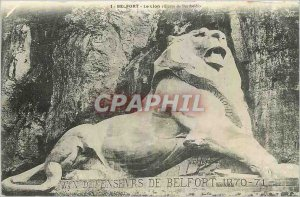 Old Postcard Belfort Lion euvre Bartholdi