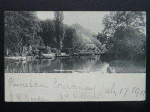Oxford NUNEHAM COURTENAY Cottage c1901 UB Queen Victoria Stamp Postcard by Frith