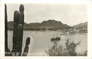 c1950 Real Photo Postcard Harbor Scene Guaymas, Son. Mexico MF 37 Posted