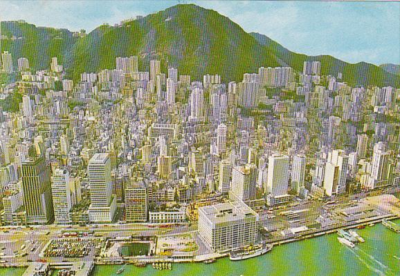 Hong Kong Birds Eye View Of Central District