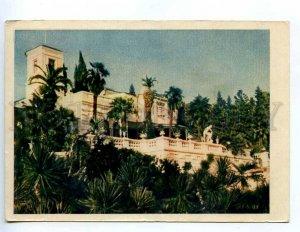 217498 RUSSIA SOCHI arboretum photo by Raskin old postcard