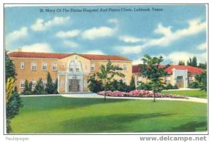 St Mary Of The Plains Hospital & Clinic, Lubbock, Texas,  TX, Linen