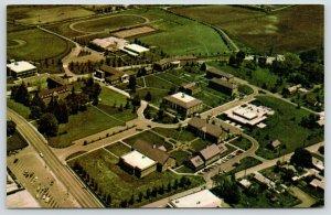 Brevard North Carolina~Campus~Brevard College Aerial View~Athletic Track 1960s