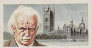 Brooke Bond Tea Vintage Trade Card Famous People 1967 No 23 David Lloyd George