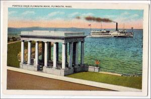 Portico over Plymouth Rock MA