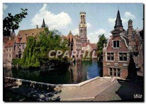 Modern Postcard Brugge Rozenhoedkaai