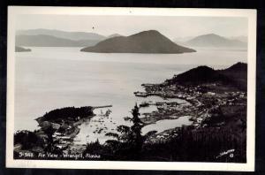 Mint RPPC Air View Wrangell Alaska Postcard