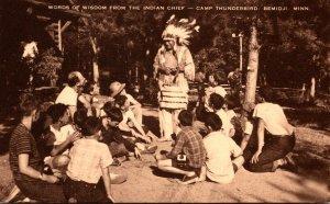 Minnesota Bemidji Camp Thunderbird Words Of Wisdom From The Indian Chief