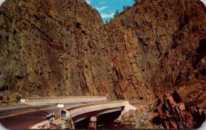 Colorado Curved Bridge In Big Thompson Canon