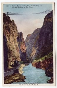 Royal Gorge, Colorado, Spanned by the Highest Bridge in the World