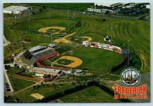 Postcard MD Frederick Aerial View Harry Grove Baseball Stadium Frederick Keys X5