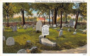 Harrodsburg Kentucky~Pioneer Cemetery Pioneer Memorial State Park~1920 PC