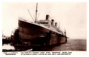 R.M.S. Majestic ,  White Star Line ,  In Dry Dock  , RPC