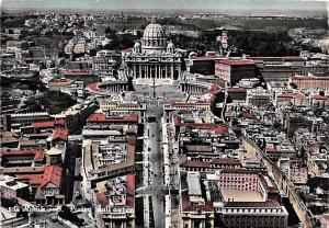 Italy Old Vintage Antique Post Card St Peter's Roma 1957