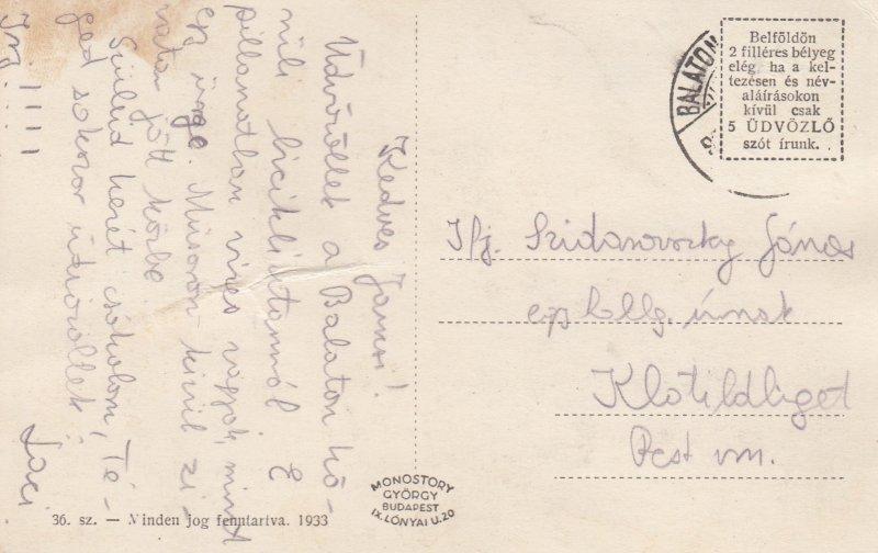 Balatonalmadi-furdo , Hungary, 1910-30s
