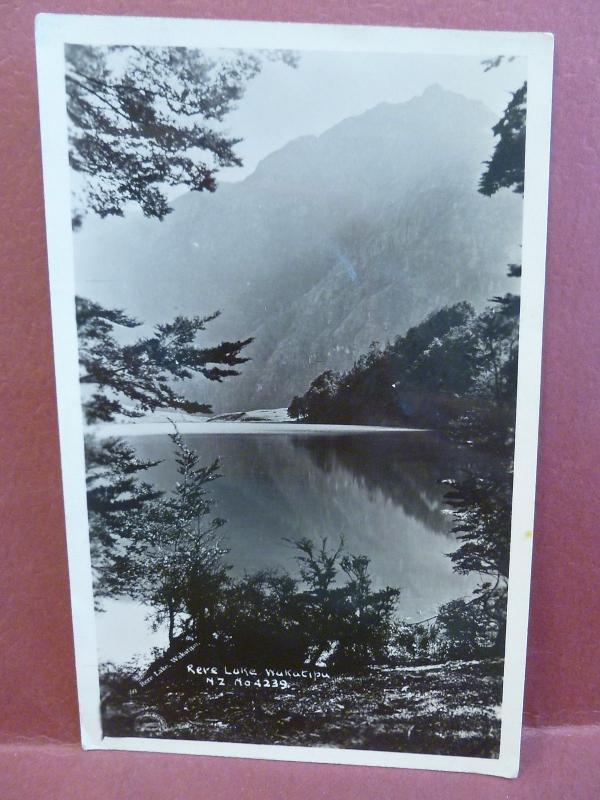 Old Postcard New Zealand Rere Lake Wakatipu