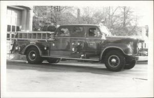 Memphis TN Fire Department Truck Engine 1954 Mack Real Photo Postcard