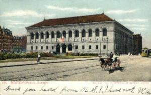 Public Library Boston MA Postal Used Unknown