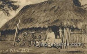 School Shed African Life Postcard Post Card  School Shed