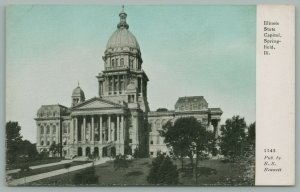 Springfield Illinois~CU Williams Bluesky Photoette~State Capitol~c1910 Postcard