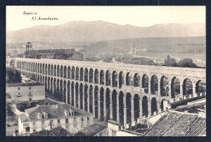 Ancient Aqueduct birdseye view Segovia Spain unused c1920's