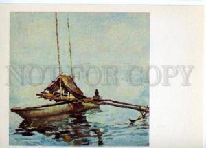153507 OCEANIA Fishing Boat in Lagoon by Plakhova & Alekseyev