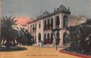 Palace of the Governor, Algiers, Algeria, Early Postcard, Used, Postage Due