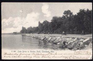 Ohio CLEVELAND Lake Drive in Gordon Park - pm1905 - Und/B - Vintage 1900s