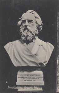Bust Of Longfellow Vintage Poetry Sculpture Statue Postcard