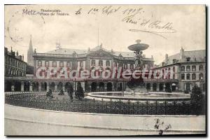 Old Postcard Metz Place Du Theater
