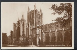 Herefordshire Postcard - Hereford Cathedral       T4607